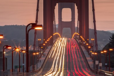 Image of Golden Gate Bridge Evening Commute