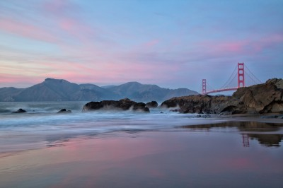 Golden Gate Bridge Image | Pastel Sunset