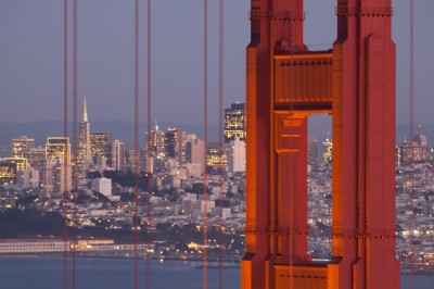 Golden Gate Bridge at Twilight - San Francisco Skyline
