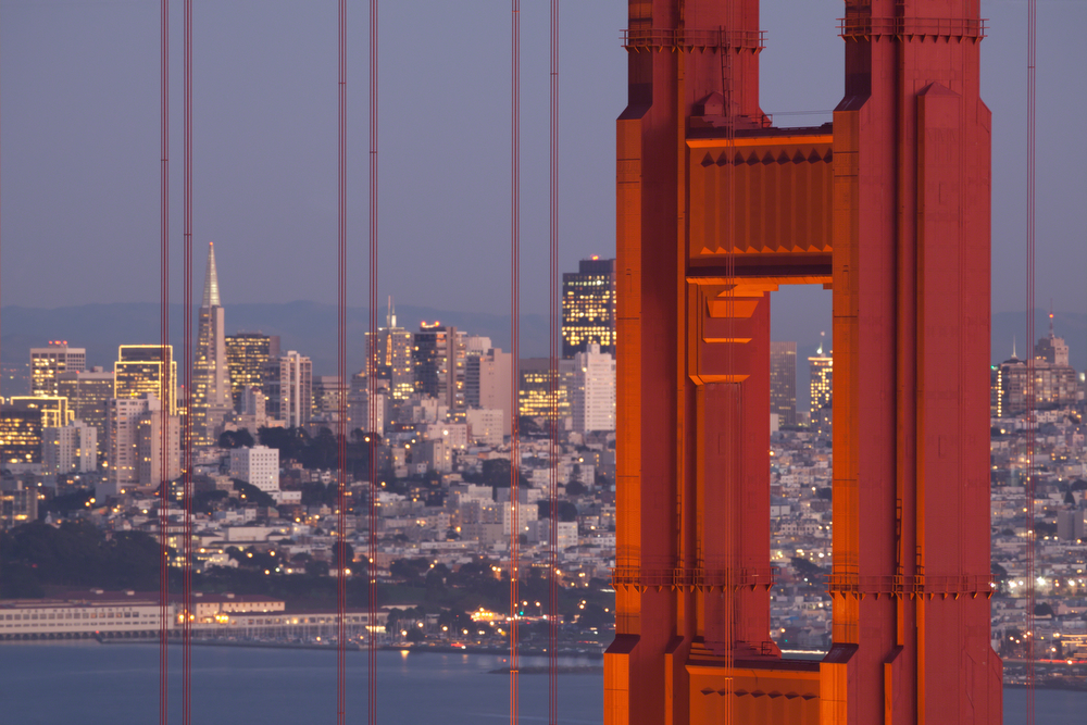 Golden Gate Bridge at Twilight - San Francisco Skyline: Image #20111202_0285