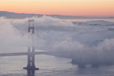 Foggy Morning Image of the Golden Gate Bridge