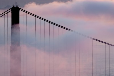 Golden Gate Bridge Silhouette Fog