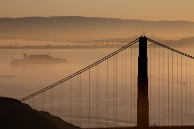 Three San Francisco Icons at Dawn