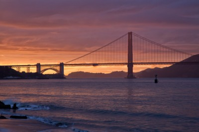 Sunset Silhouette | Golden Gate Bridge Photo