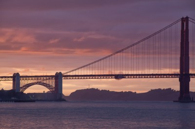Sunset View of the Golden Gate Bridge