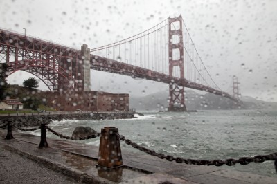 Golden Gate Bridge Raindrops
