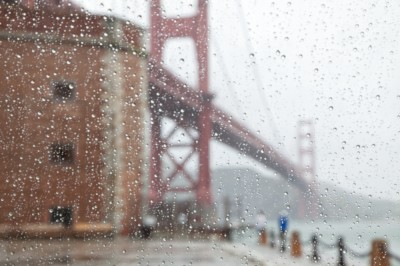 Watching the Rain at the Golden Gate Bridge