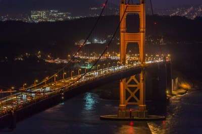 Golden Gate Bridge: Night Traffic